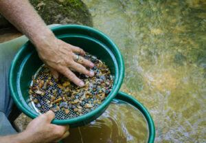 Gold panning and gem mining