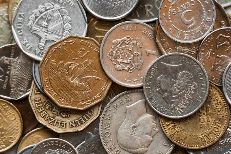 Pile of Assorted Coins