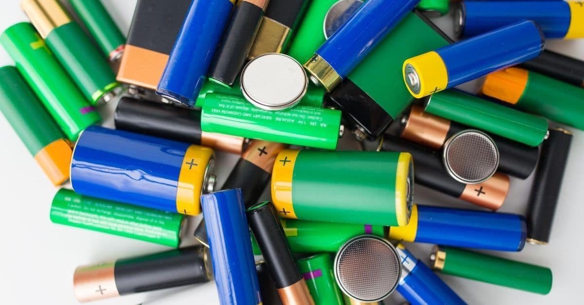 A pile of assorted batteries.