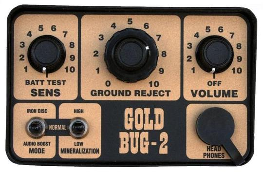 Fisher Gold Bug 2 Control Panel