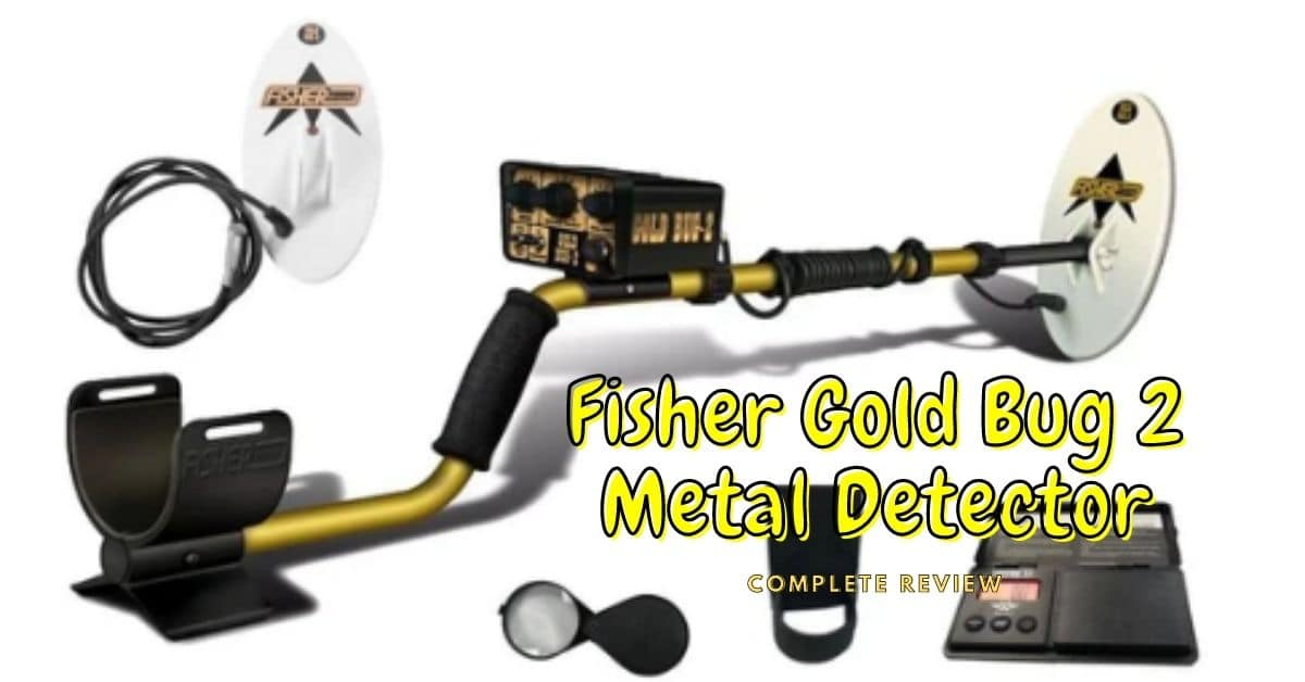 Fisher Gold Bug 2 metal detector and accessories.