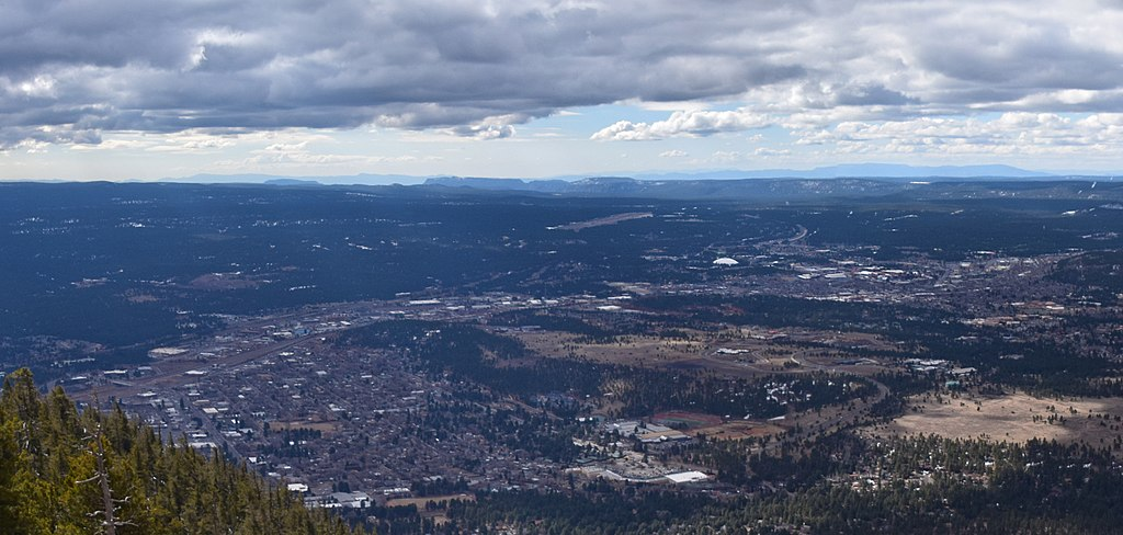 View from Mount Elden of Flagstaff Arizona