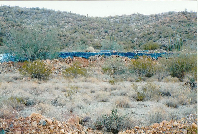 Area where the town of Gillett Arizona once stood.