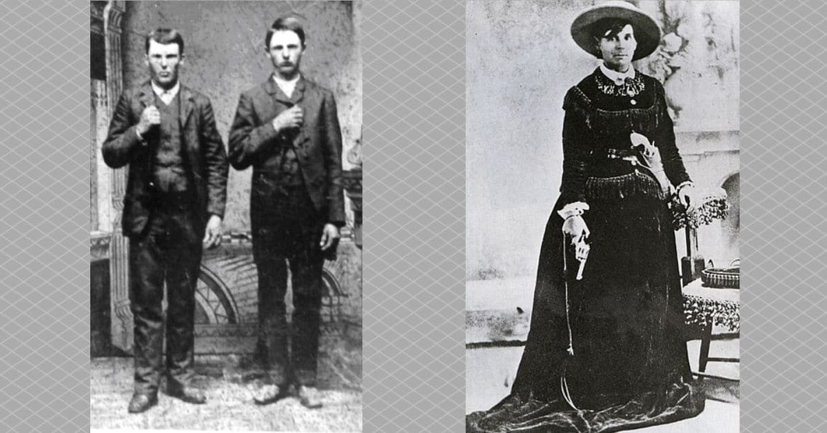 Photos of Jesse and Frank James and Belle Starr