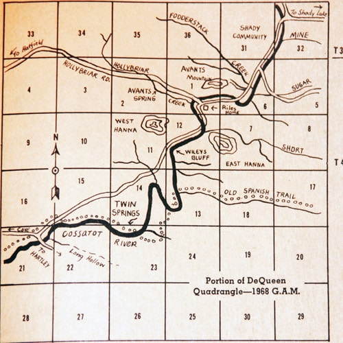 Twin Springs Spanish Gold Map