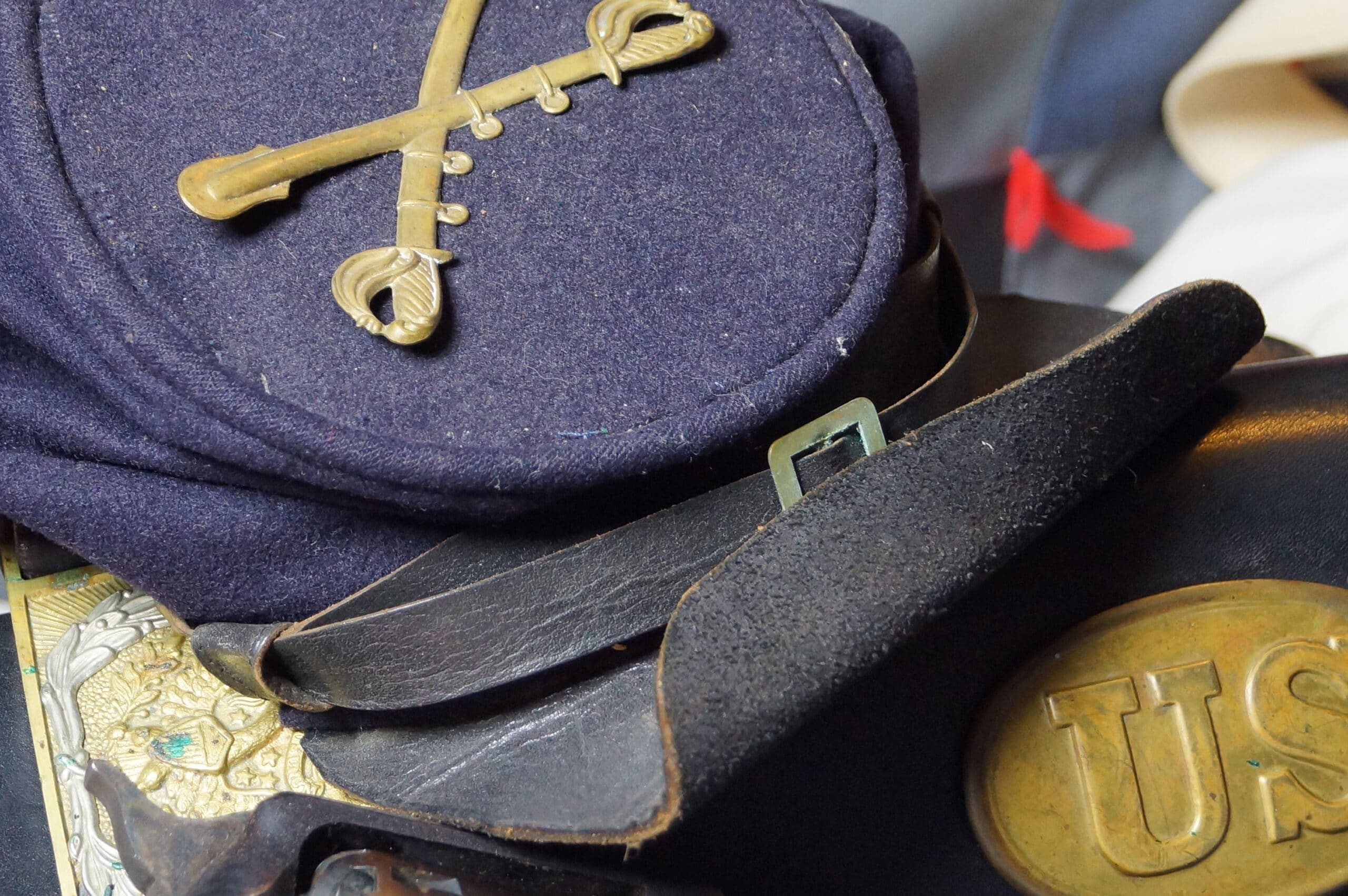 Union Army uniform cap of the American Civil War.