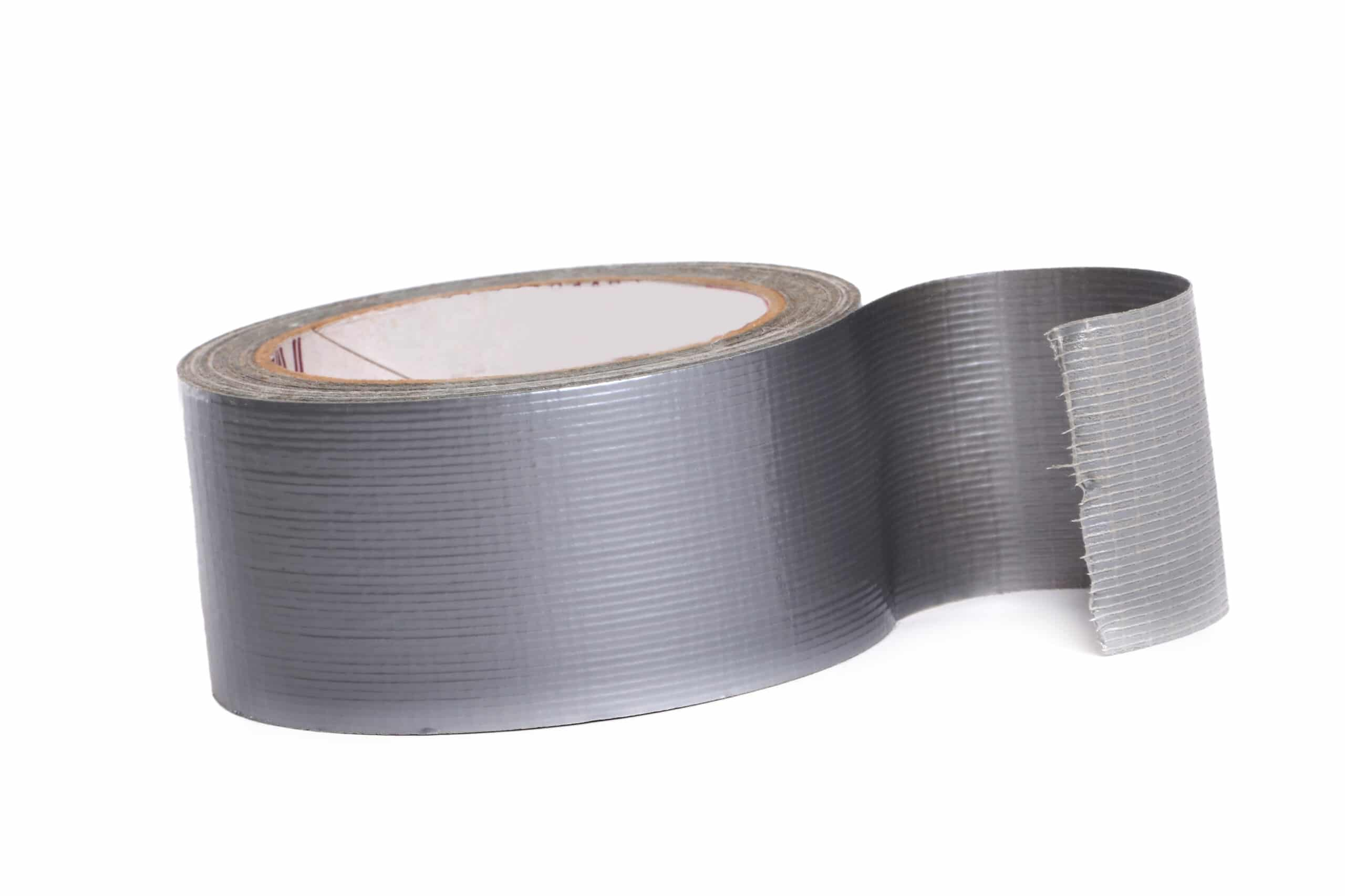 A roll of silver duct tape.