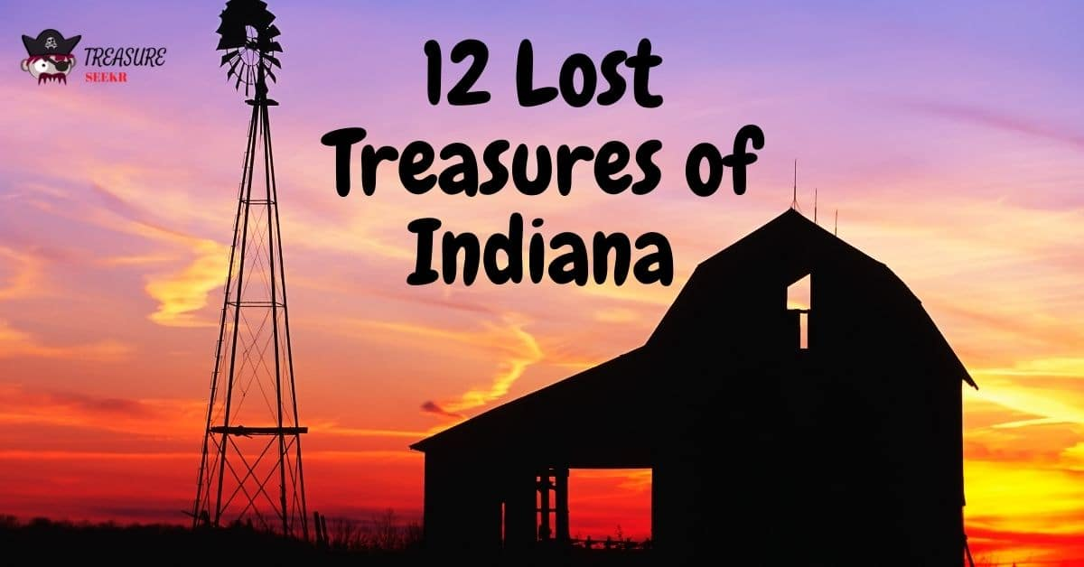 Old barn and windmill at dusk - 12 lost treasures of Indiana