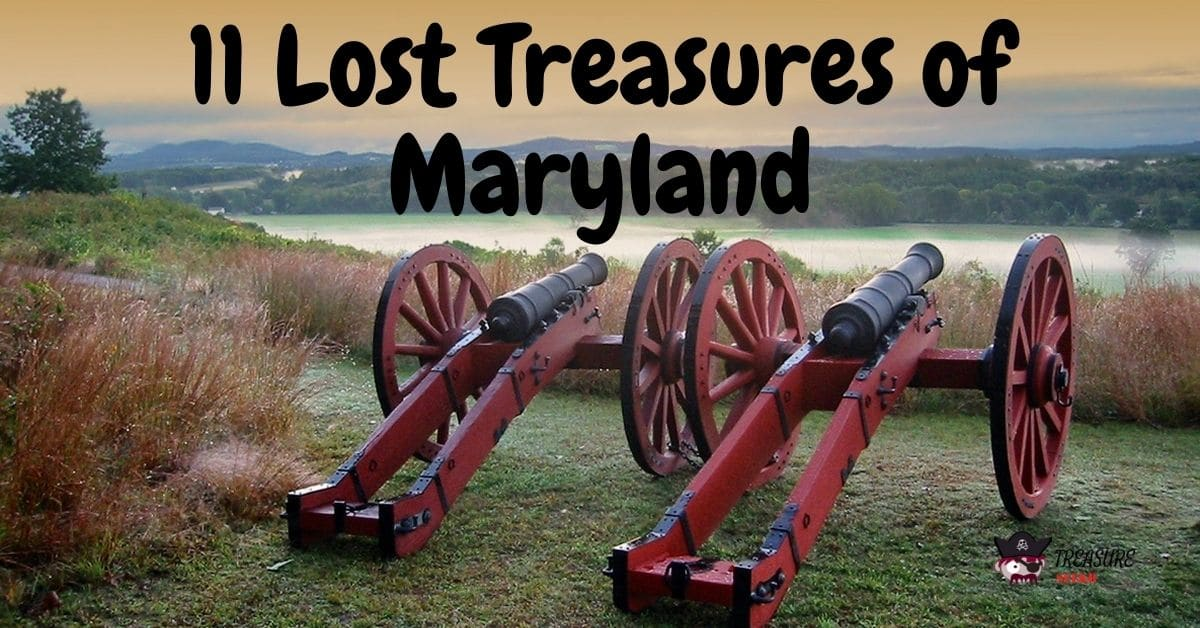 Two cannons on a bluff in Maryland - 11 Lost Treasures of Maryland