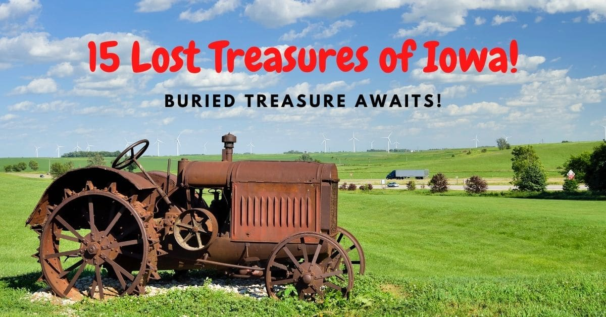 Old tractor in a field - 15 lost treasures of iowa