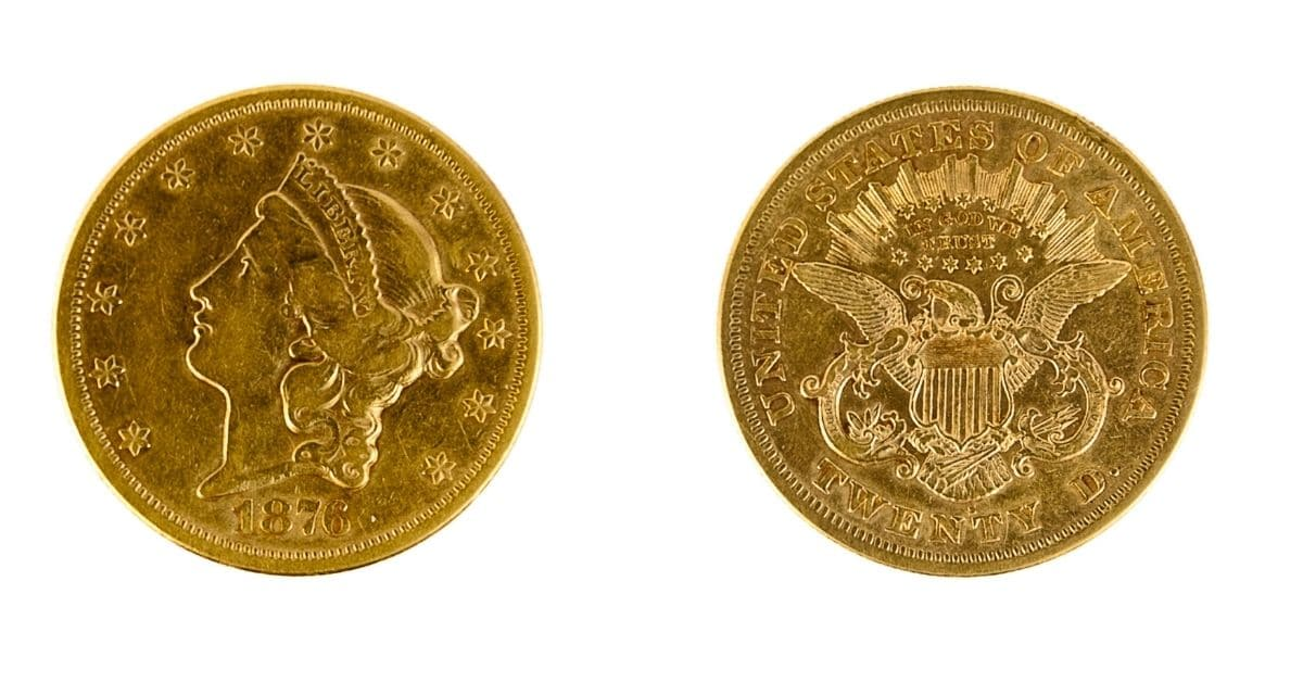1876 $20 Gold Coins