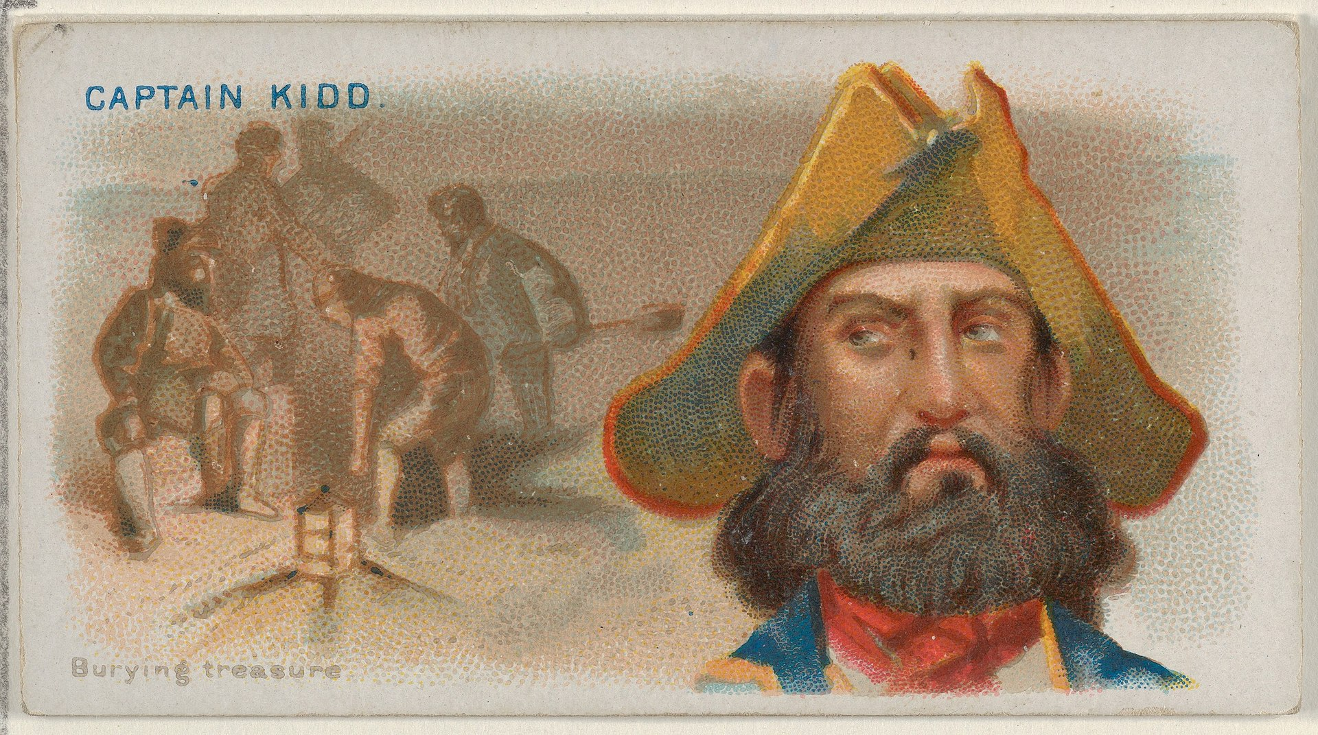 Captain Kidd, Burying Treasure, from the Pirates of the Spanish Main series (N19) for Allen & Ginter Cigarettes